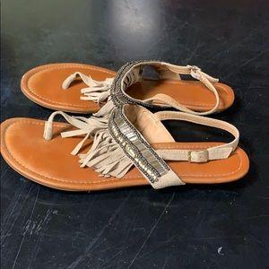 Western fringe sandals